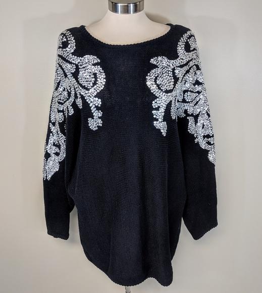 bonnie boerer Dresses & Skirts - Bonnie Boerer & Company Sequined Sweater Dress
